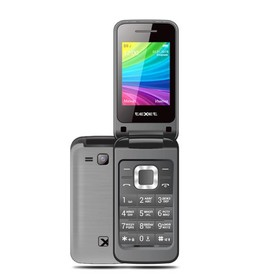 Сотовый телефон Texet TM-204, цвет антрацит