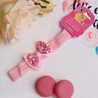 """Повязка для волос """"Модница"""" 2*14 см пайетки, розовый"""