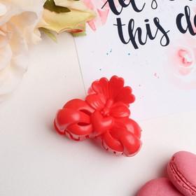 Краб для волос 'Глянец' 6 см цветущее сердце микс Ош