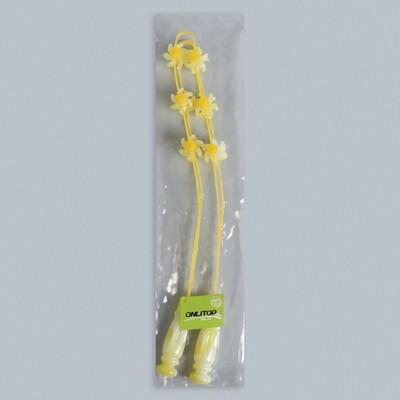 Массажёр-лента для спины, 6 звеньев с шипами, цвет жёлтый
