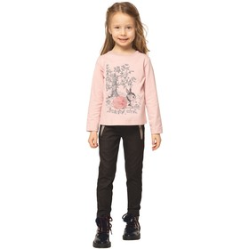 Блузка для девочек, рост 92 см, цвет розовый Ош