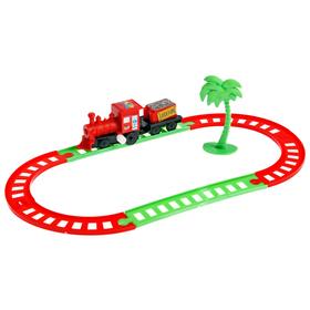 Железная дорога «Мини поезд», заводная, в пакете Ош
