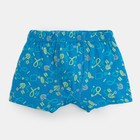 Трусы для мальчиков, цвет голубой набивка, рост 104-110 (30) см