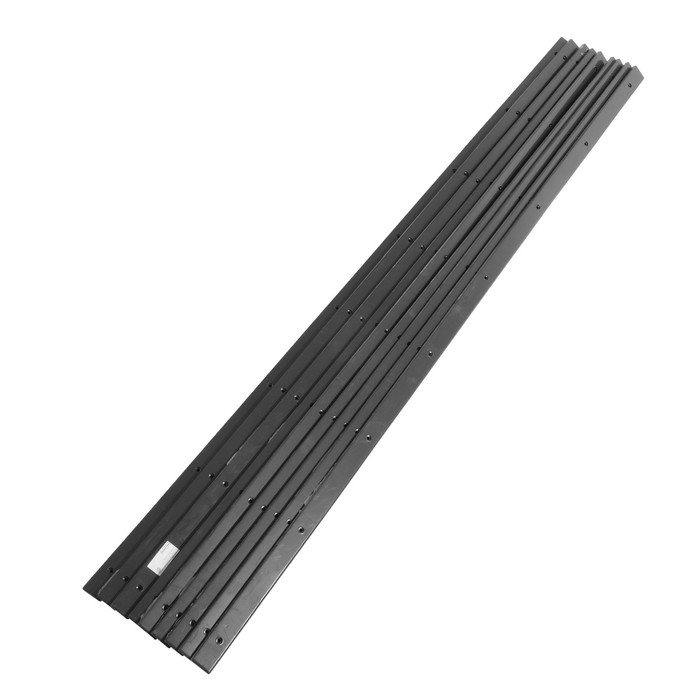 Пластиковые накладки на дно саней PolimerList СВП-180, 0,8×175×4 см, комплект 9 шт., крепёж