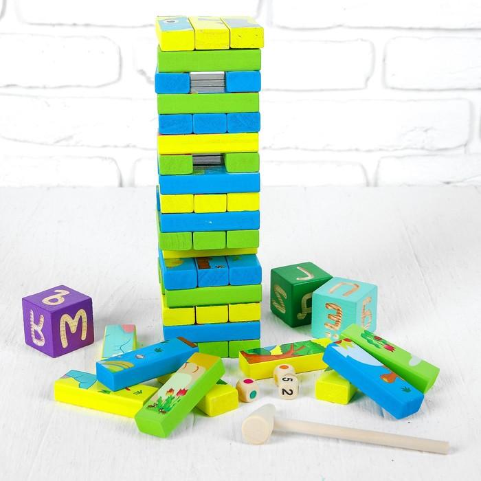 """Игрушка развивающая """"Башня + картинки"""" 4,5×26×16 см"""