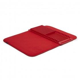 Коврик для сушки посуды Udry, 46×61×3, красный
