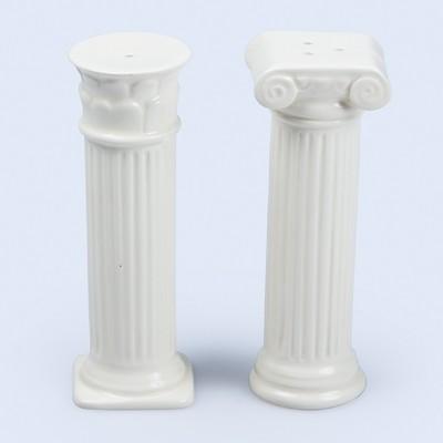 Солонка и перечница керамические Hestia, белые - Фото 1