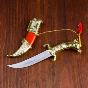 Сув. изделие нож, ножны серебро с красным, клинок 12 см Ош