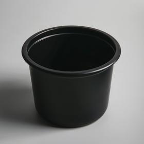 Контейнер круглый черный, 500 мл Ош