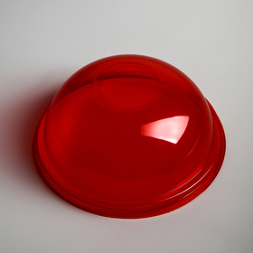 Крышка купольная с отверстием для шейкера, цвет красный Ош