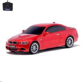 Машина радиоуправляемая BMW M3, 1:24, работает от батареек, свет, цвет красный