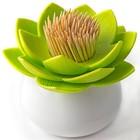 Держатель для зубочисток Lotus, белый-зелёный
