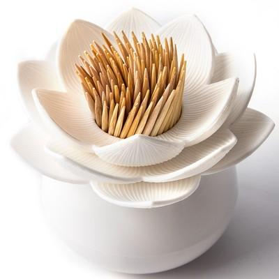 Держатель для зубочисток Lotus, белый - Фото 1