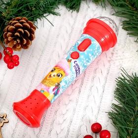 Новогодний микрофон «Новогодняя сказка» световые и звуковые эффекты, красный, в пакете Ош