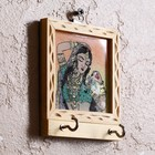 """Ключница """"Ализея"""" дерево,стекло,металл,песок,текстиль 3х9,5х12 см"""