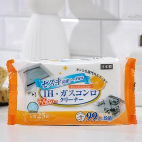 Салфетки влажные для индукционных плит Can do, с сесквикарбонатом натрия, 25 шт.
