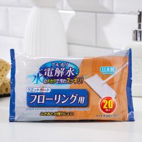 Салфетки влажные для напольных покрытий Can do, с водородной водой, 20 шт. Ош