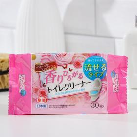 Салфетки влажные для уборки унитаза Can do, с запахом цветов, смываемые, 30 шт. Ош