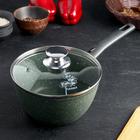 Кастрюля Trendy style emerald, 1,5 л, со съёмной ручкой, антипригарным покрытием и стеклянной крышкой