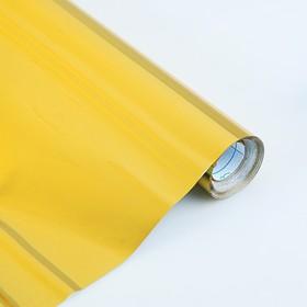 Плёнка самоклеящаяся Цветная, 0.5 х 3 м, Sadipal, 100 мкм, Metallic золотая Ош