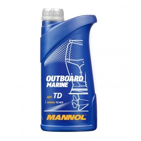 Масло моторное MANNOL 2T п/с Outboard Marine, 1 л Ош