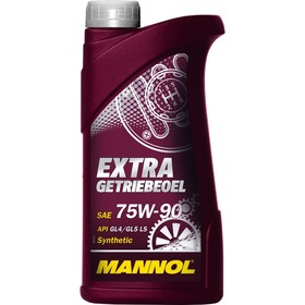 Масло трансмиссионное MANNOL 75w90, синтетическое, Extra Getriebeoel, 1 л