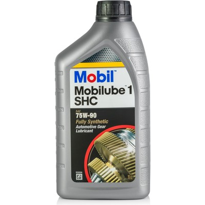 """Трансмиссионное масло Mobil, 75W-90, """"MOBILUBE 1 SHC"""", синтетическое, 1л"""