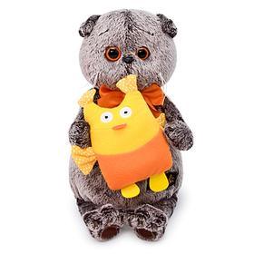 Мягкая игрушка «Басик с совой», 19 см