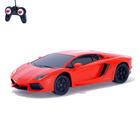 Машина радиоуправляемая Lamborghini Aventador, 1:24, работает от батареек, свет, цвет красный
