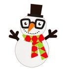 Набор для творчества - создай ёлочное украшение «Снеговик в цилиндре»