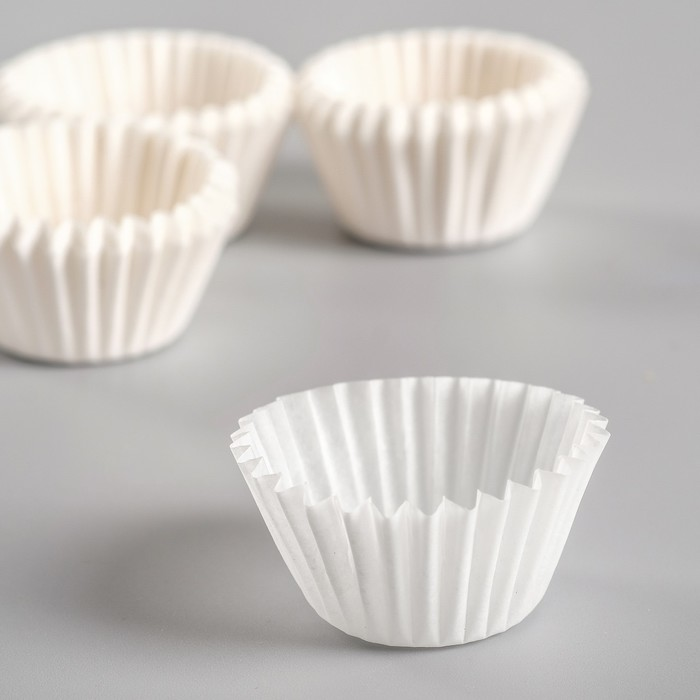 Тарталетка, белая, 2,2 х 1,6 см