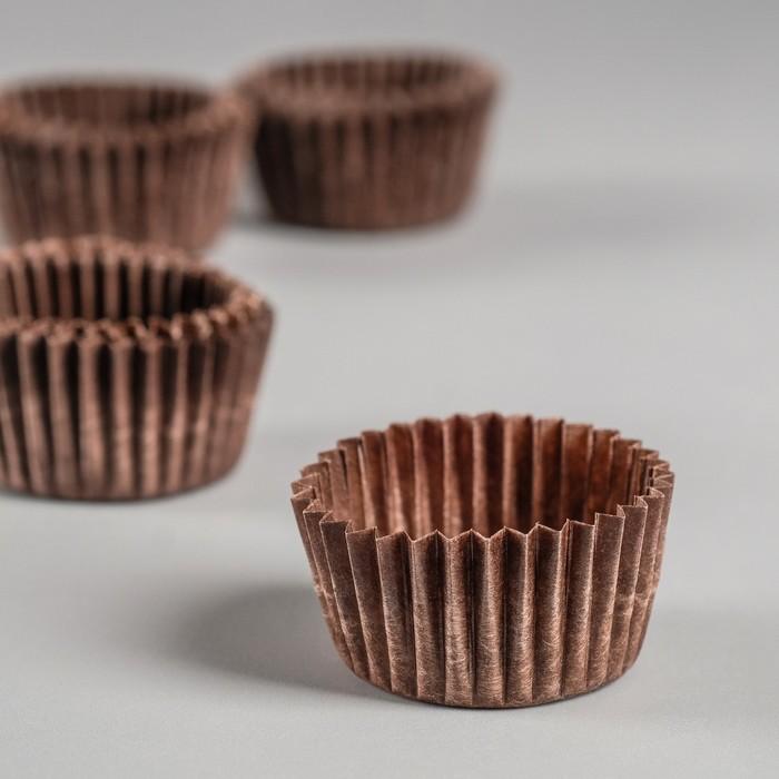 Тарталетка, коричневая, 2,5 х 1,6 см