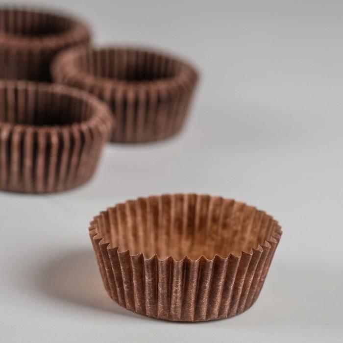 Тарталетка, коричневая, 3 х 1,5 см