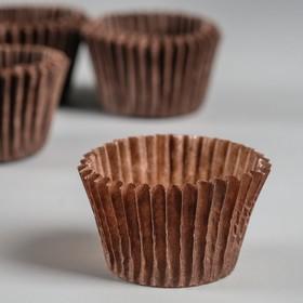 Тарталетка, коричневая, 3 х 2,4 см Ош