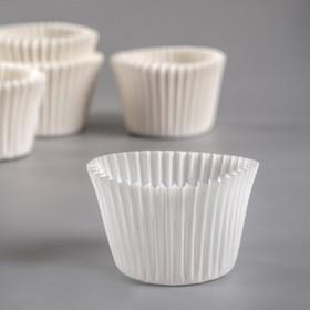 Форма для выпечки белая, 3,5 х 3 см Ош