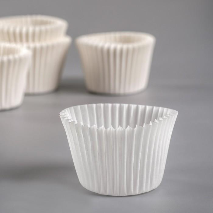 Тарталетка, белая, 3,5 х 3 см
