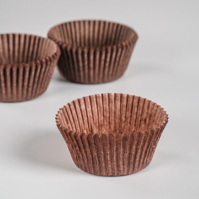 Тарталетка, коричневая, 5 х 3 см