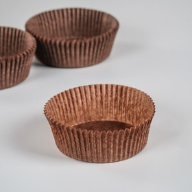 Тарталетка, коричневая, 6 х 2,5 см Ош