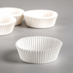 Тарталетка, белая, 6 х 2,5 см