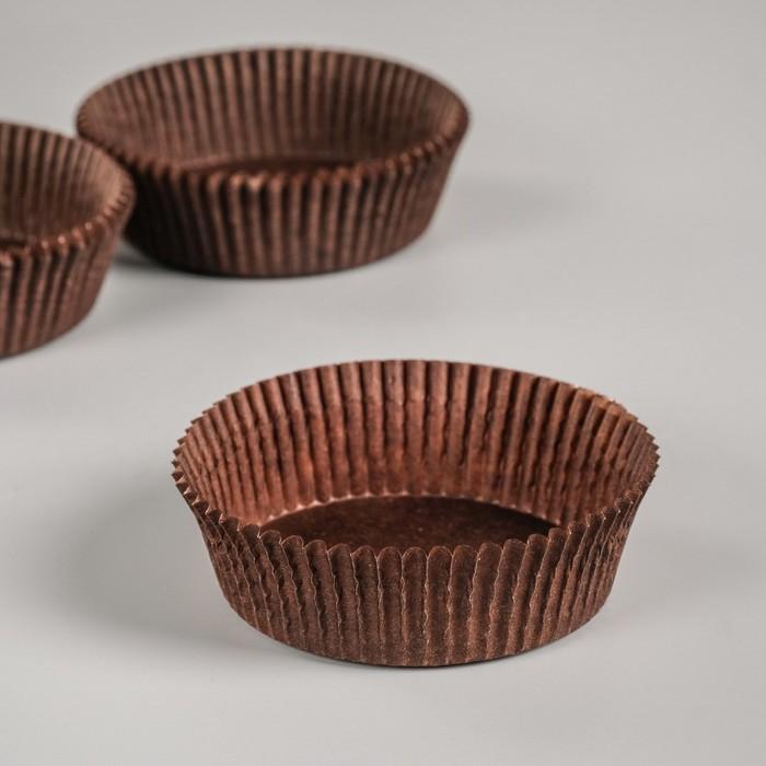 Тарталетка, коричневая, 7 х 2,5 см