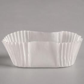 Тарталетка, белая, форма овал, 2,5 х 4,5 х 2 см Ош