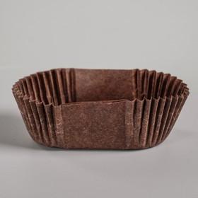 Тарталетка, коричневая, форма овал, 2,5 х 5 х 2 см
