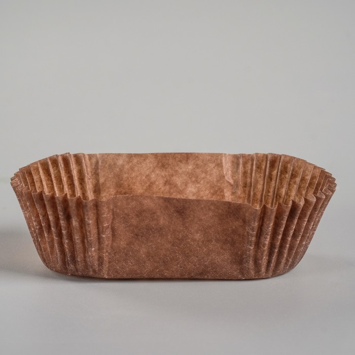 Тарталетка, коричневая, форма овал, 2,5 х 6 х 2 см