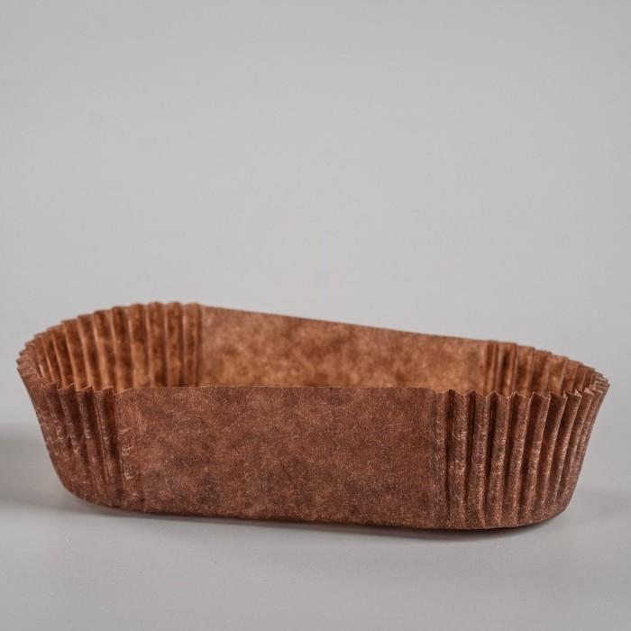 Тарталетка, коричневая, форма овал, 3,3 х 8,3 х 2,2 см