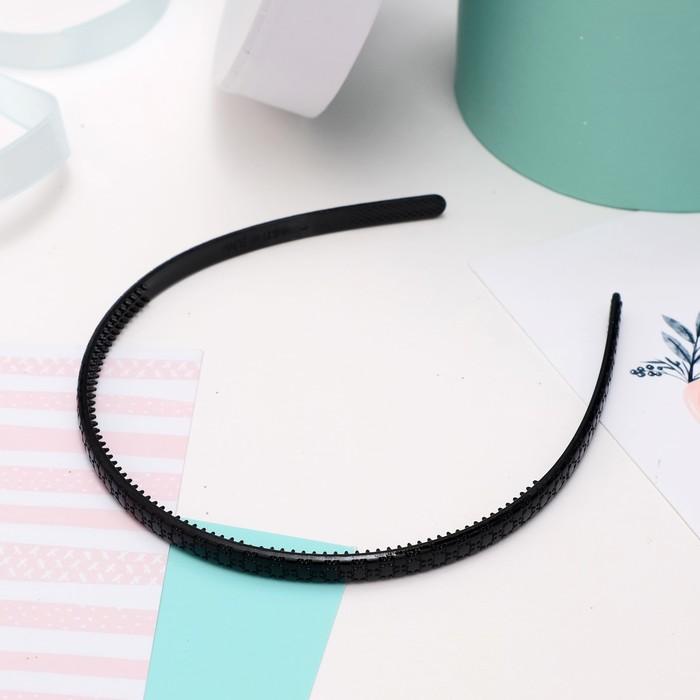 Ободок для волос Ночка рисунок, 0,5 см, чёрный