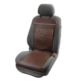 Подогрев сидений TORSO, экокожа, 12 В, 35 Вт, провод 1,1 м, с регулятором, коричневый Ош