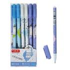 Ручка гелевая ПИШИ-СТИРАЙ стержень синий 0,5мм, корпус МИКС Кот