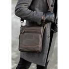 Планшет мужской, отдел на молнии, 2 наружных кармана, длинный ремень, цвет коричневый