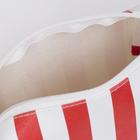 Косметичка дорожная, отдел на молнии, цвет красный/белый - Фото 3