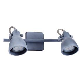 Светильник GOTTO, 2x50Вт GU10, серый